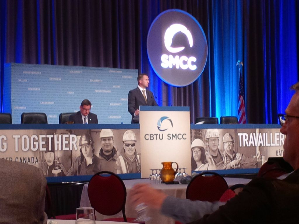 Matt Waylon, Political Action Strategist for IBEW opens Canadian Building Trades Conference