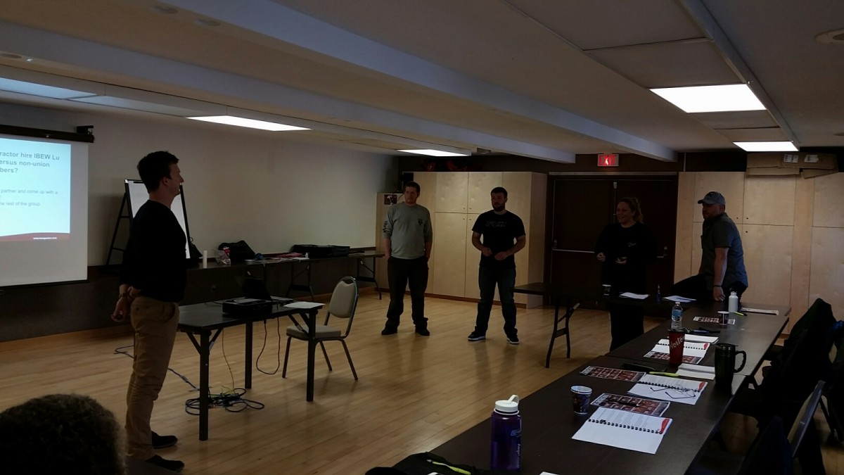 Photos From Front Line Leadership Level 2 in Kitimat