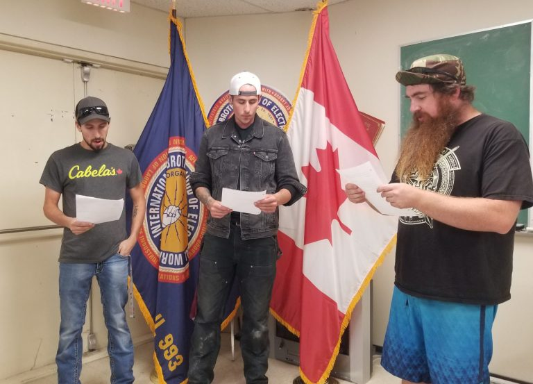 Swearing in of New Members Ethan Bertoli, and Connor Graham