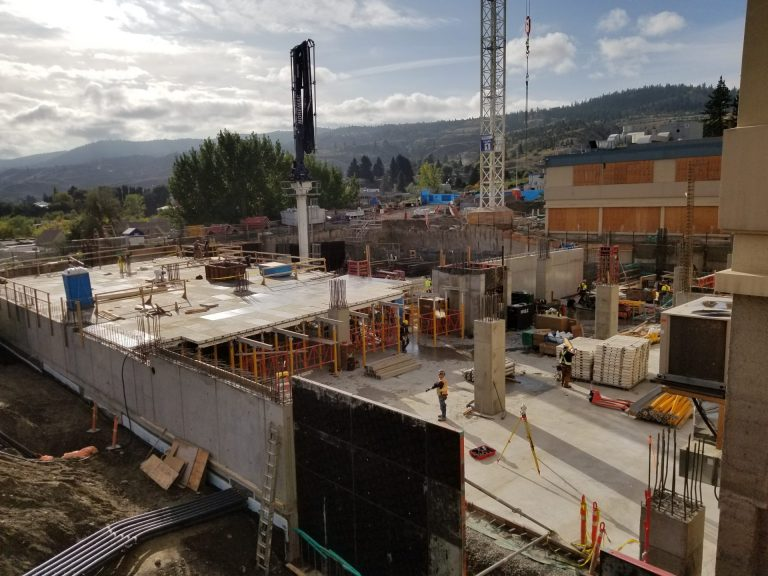 Royal Inland Patient Tower Site Visit & presentation to the TRU foundation classes