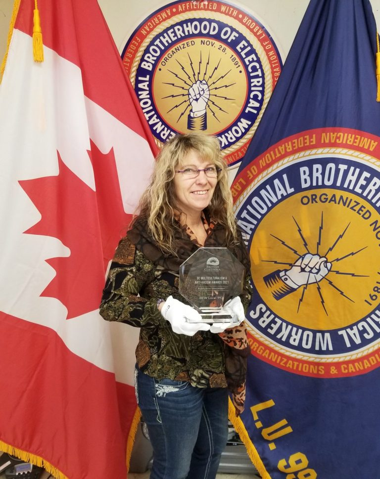 IBEW 993 Received BC Breaking Barriers Award